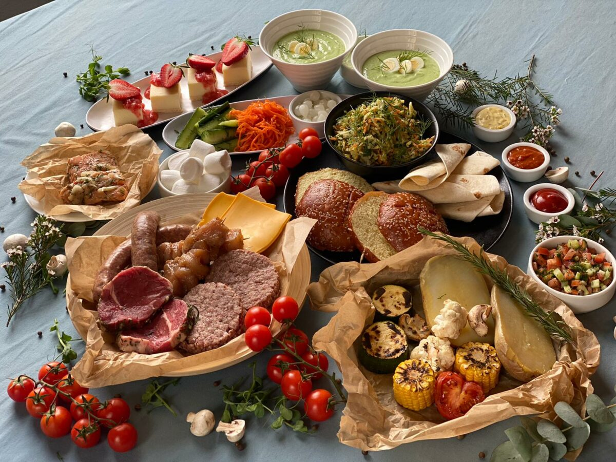 piknika ēdieni